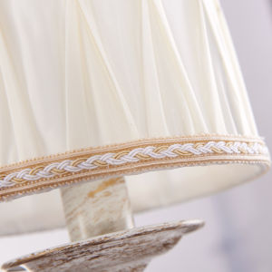Color White Iron & Fabric Round Lampshade for Chandelier Lighting (D-6112/5) pictures & photos