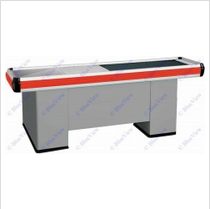 Metal Supermarket Checkout Counter Cold Steel