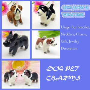 Cute 3D Imitation Enamel Pet Dog Charm Pendant Wholesale pictures & photos