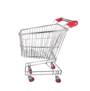Metal Wire Hand Trolley with Wheels