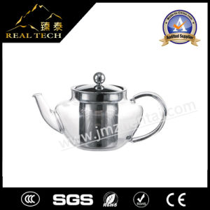 Eco-Friendly Blow Borosilicate Glass Teapot for The Gas Stove with Handle Stainless Steel Cap Couver Holder
