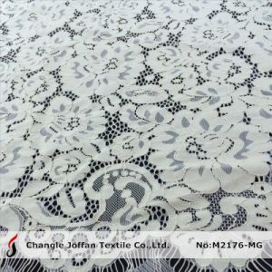 Ivory Cotton Scalloped Wedding Lace Fabric (M2176-MG) pictures & photos