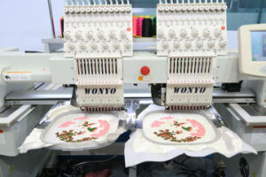 2 Head Embroidery Machine with Tufting Needle pictures & photos