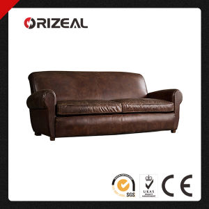 Orizeal French Club Style Parisian Leather Sofa (OZ-LS-2033) pictures & photos