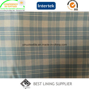 100% Polyester Men′s Jacket Tartan Patterned Liner Lining China Supplier pictures & photos