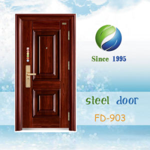 China Newest Develop and Design Single Steel Security Door (FD-903) pictures & photos