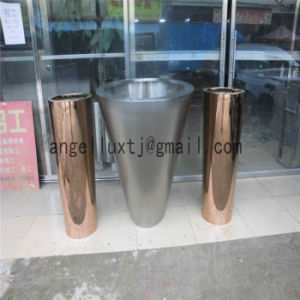 Wholesale Fashion Design Living Room Home Decoration Rose Gold Stainless Steel Flower Vase pictures & photos