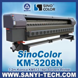 3.2m Large Format Outdoor Printer, Sinocolor Km-3208n with Konica Km512 Heads pictures & photos