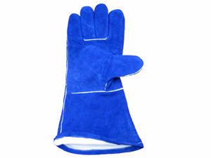 Blue Cow Split Fully Acrylic Pile Lined Welding Work Glove pictures & photos