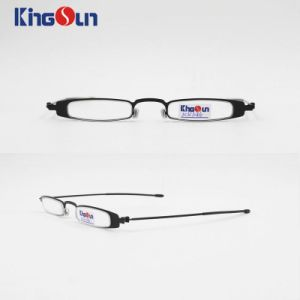 Steel Slim Frame with Wire Temple Reading Glasses pictures & photos