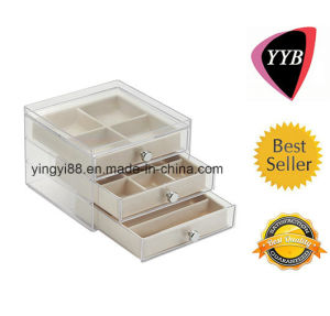 Custom Clear Acrylic Jewelry Box with 3 Drawer pictures & photos