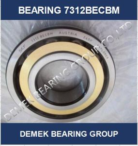 Angular Contact Ball Bearing 7312 Becbm with Brass Cage pictures & photos