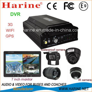 4CH Vehicle Mobile DVR with 3G/4G GPS pictures & photos