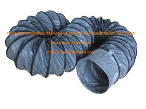 "12"" Grey PVC Fire-Retardant Flexible Air Blower Duct pictures & photos"