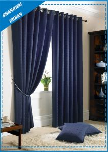 Home Decoration Blackout Indigo Polyester Window Curtain pictures & photos