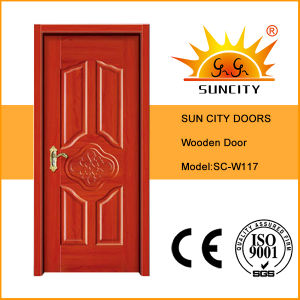 Modern House Design Interior Wood Single Door (SC-W117) pictures & photos