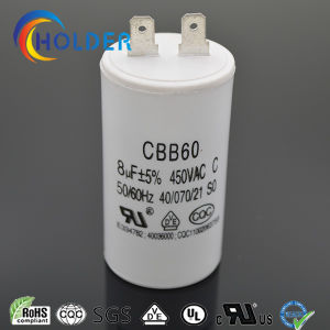 Cbb60 805j 450VAC AC Motor Run and Start Capacitor with 2 Pins High Voltage Ce/UL/VDE/RoHS/CQC (CBB60 All Series) Wholesale Factory pictures & photos