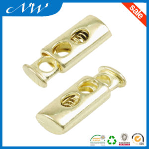 Golden Color Metal Zinc Alloy Cord Lock pictures & photos