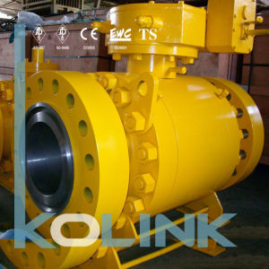 Forged Steel Trunnion Mounted Ball Vale 3PC Gear Operation pictures & photos
