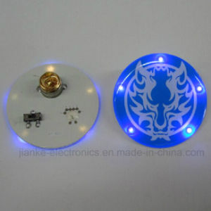 Butterfly Clip Plastic LED Flashing Buttons with Logo Printed (3569) pictures & photos