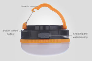 Mini Handy LED Solar Camping Light with USB Magnetic Flashlights pictures & photos