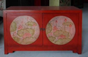 Chinese Antique Furniture 2 Doors Painted Cabinet Lwb851 pictures & photos