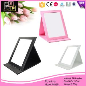 Factory Price Wholesale Custom PU Cosmetic Makeup Mirror (8165) pictures & photos