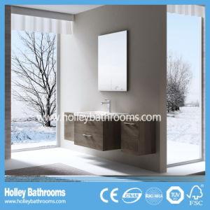 European Style MDF Deluxe Modern Bathroom Set with Two Side Vanities (BF123N)