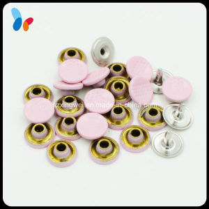 Flat Round Cap Pink Color Metal Brass Jeans Rivet pictures & photos