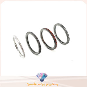 Different Plating Lady 925 Silver Jewelry Ring (R9844) pictures & photos