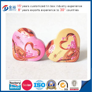 Metal Heart Shaped Candy Box with Foam pictures & photos