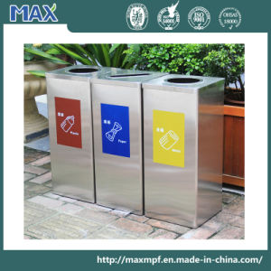 Free Combination Recycling Open Top Waste Bin Made by Metal pictures & photos