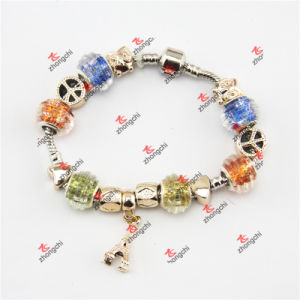 Fashion Snake Chain Glass Beads Dangles Bracelet Jewelry (POD60229)