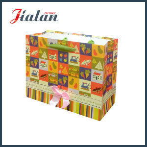 128g Coated Card Custom Logo Made Cheap Paper Packaging Bag pictures & photos