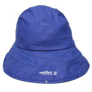 Dark Blue PU Rain Hat /Rain Cap/Raincoat for Adult pictures & photos