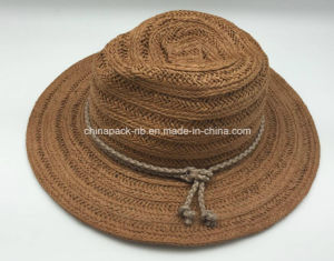 High Quality Panama Paper Straw Fedora Hats (CPA_60018) pictures & photos