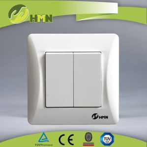 Ce TUV Certified EU Standard 2 Gang 1 Way Switch pictures & photos