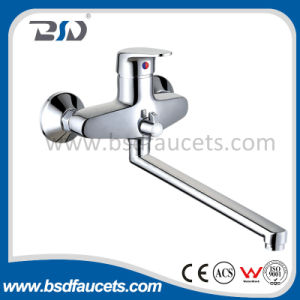 Bathroom Bath Faucet with Brass Single Handle Wall Mount Chrome pictures & photos