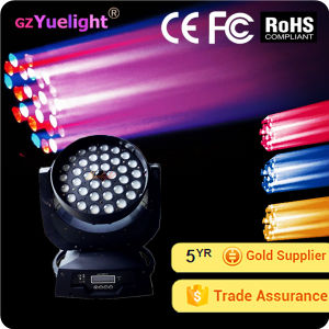 Yuelight PRO 36X10W 4in 1 RGBW CREE Zoom LED Moving Head Wash Disco Light pictures & photos