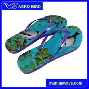 Hotest Digital Printing African Slippers for Women (BF15002-Purple) pictures & photos