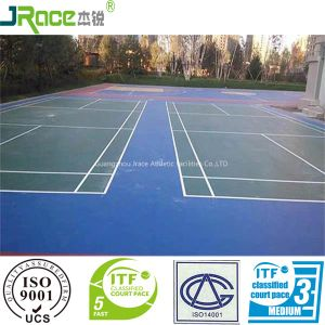 Excellent Cushion Effect Silicone PU Tennis Court Cover Sport Court Surface pictures & photos