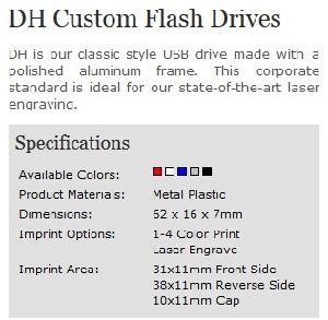 Custom Logo Aluminum Casing Dh USB Flash Drive (ALP-011U) pictures & photos