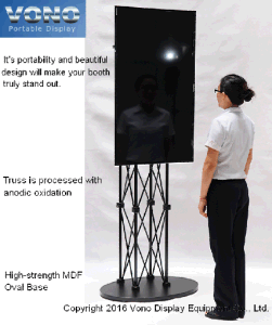 """Exhibition Pop up Stand for Truss TV Display 17"""" to 65"""" Trade Show Products"""