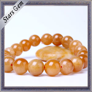 Bright Lucky Non-Transparent Gold Stone Jewelry Bracelet pictures & photos