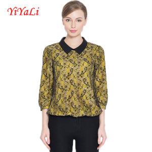 OEM Summer Fashion Lace Ol Style Blouse 3/4 Sleeve Women Shirt