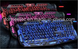 Crack Backlighting Keyboard Burst Pattern Gaming PC Keyboard pictures & photos
