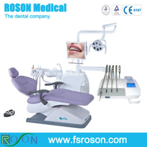CE Approved Leather Dental Chair with LED Sensor Light pictures & photos