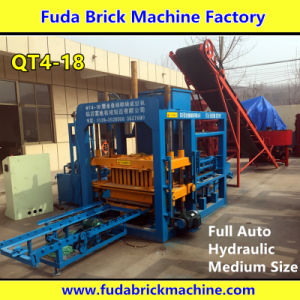 Qt4-18 Hydraulic Full Automatic Concrete Block Machine Brick Maker pictures & photos