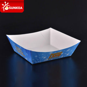 Square Boat Paper Food Tray pictures & photos