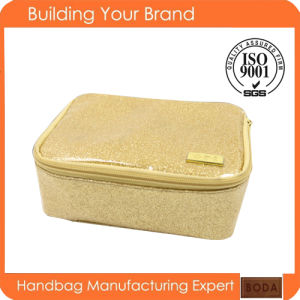 Gold Travel Cosmetic Bag Promotional Cosmetic Bag (BDX-161042) pictures & photos